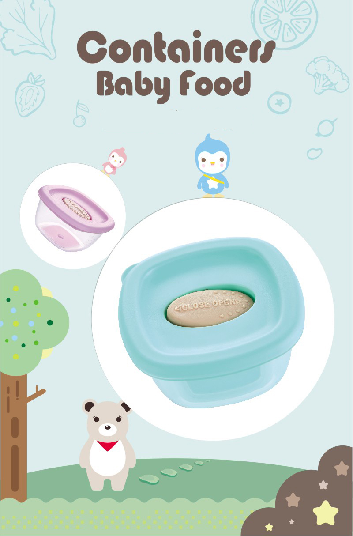JT/_ Baby Formula Milk Powder Dispenser 4 Layers Infant Food Storage Container