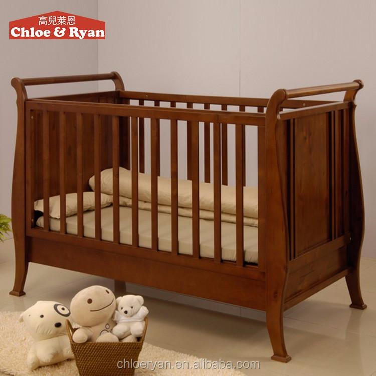 moda nueva llegada cama extensor para el beb de madera de teca tallada beb cama cuna