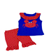 Girls clothing boutique crab applique pearl tunic baby outfits remake children's clothing set