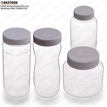 food grade pet clear wide mouth plastic herb jar herb container mason jars 24 oz wholesale