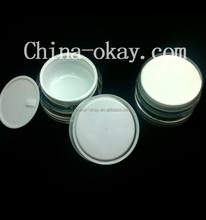 Acrylic Plastic Type 200g round cream jars/ light blue color lotion body bottle