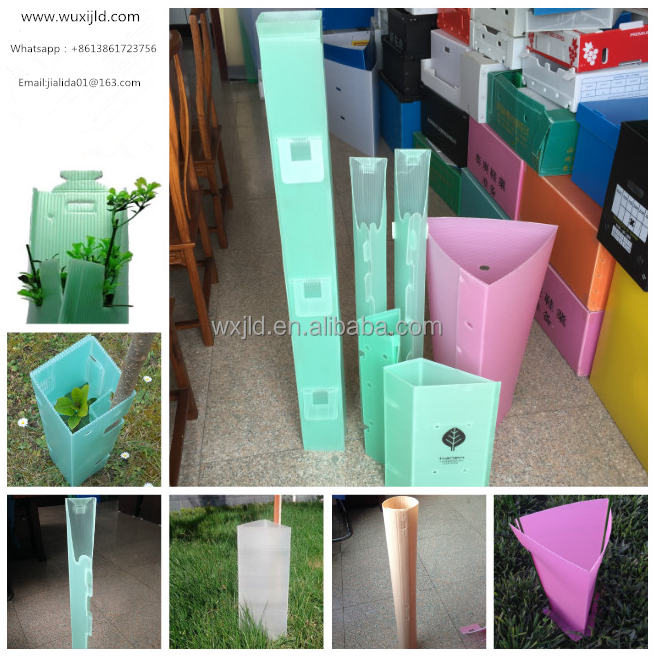Best price pp plastic fluteboard tree protectors with ISO,SGS certificate