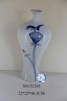 Modern nice design exquisite craft blue and white chinese vase