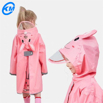 Hot sale	Children fasion raincoat with low price
