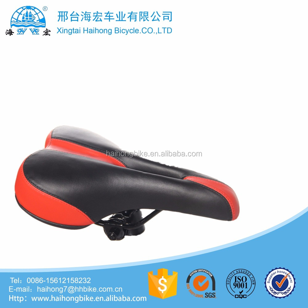 haihong factory direct supply leather material mountain velociped saet/mtb bike saddle