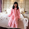 Nightgowns For Child Winter Long Nightdress Flannel pajamas Robe warm kids s lounge Nightwear
