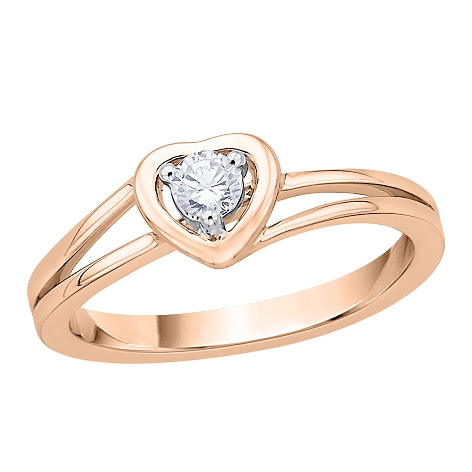 Size-10.25 1//8 cttw, G-H,I2-I3 Diamond Wedding Band in 14K Pink Gold