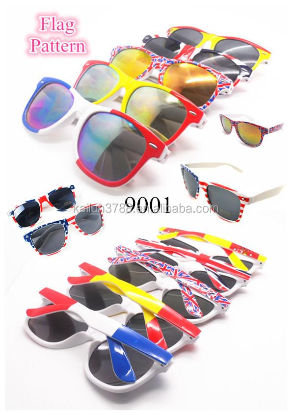 Sunglasses Spanish  wholes plastic est custom made spanish flag sunglasses