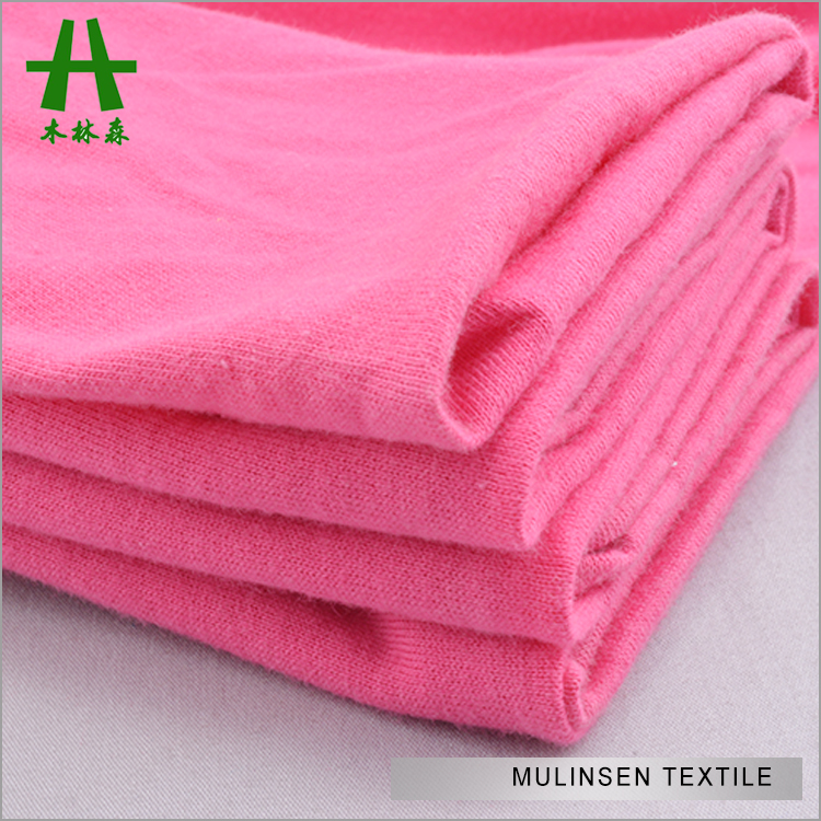 Mulinsen Textile Hot Sale Light Weight Knit 30s 100% Cotton Single Jersey Fabric