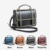KC0246 Trendy Golden Embroidery Handbags for Women Genuine Leather