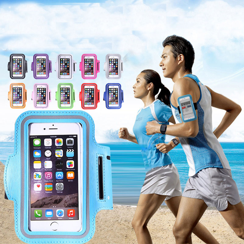 Hot Sale Luminous Waterproof Mobile Phone Running Sports Arm Bag