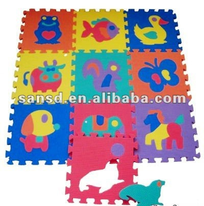 Safety kids bedroom eva jigsaw foam animal play custom foam puzzle mats