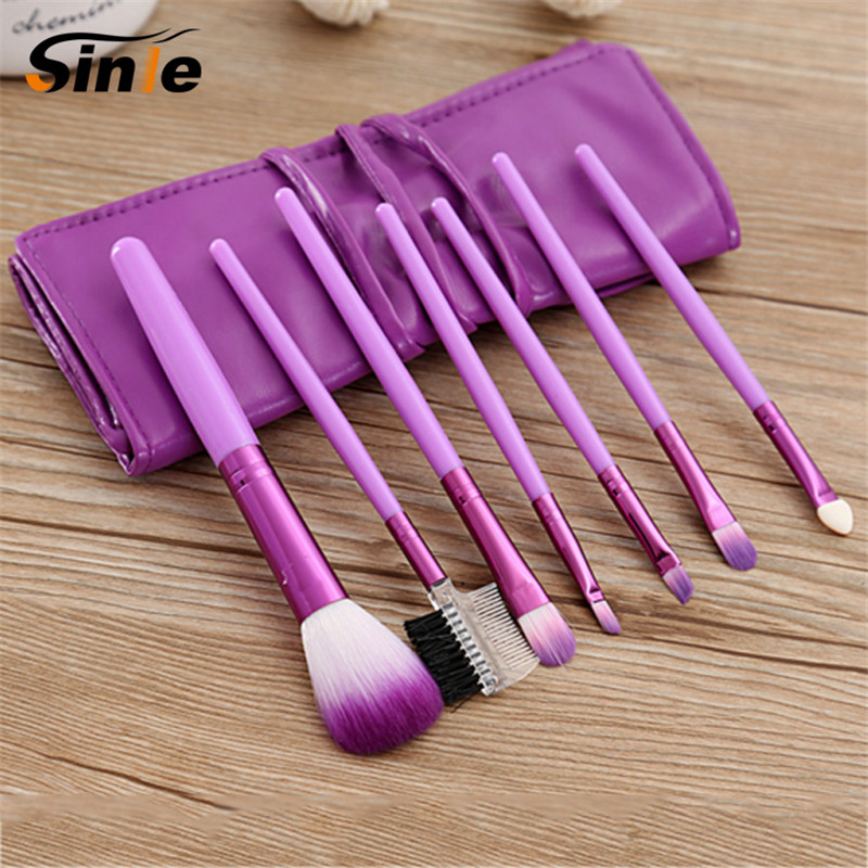 Professional 7 PCS Makeup Tools Set Toiletry Kit Wool Brand Cosmetic Foundation Make Up Brushes