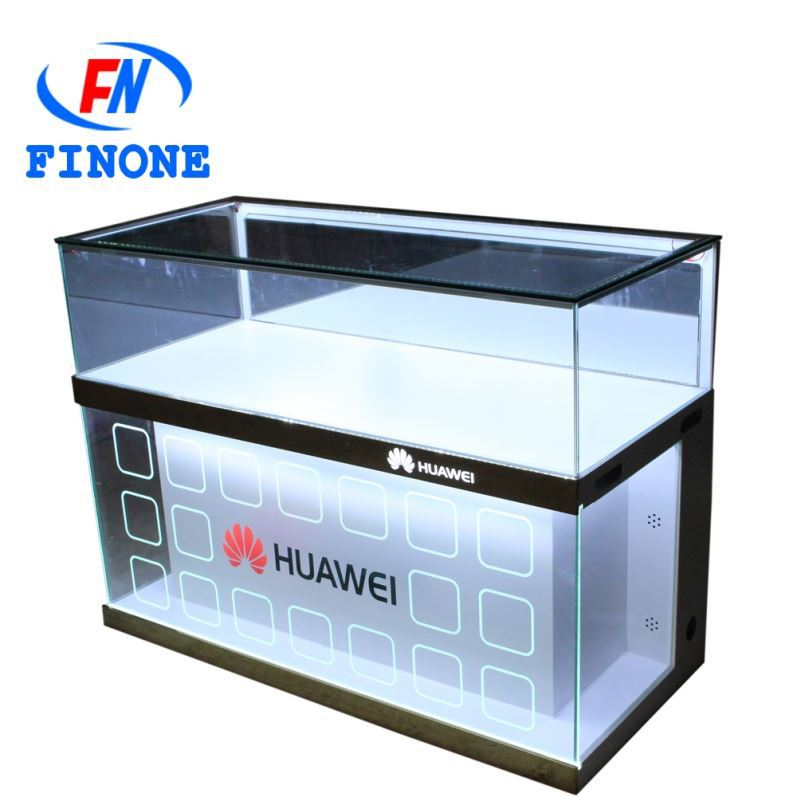 Hot selling phone case stand shelves acrylic cell phone display cabinet mobile phone showcase