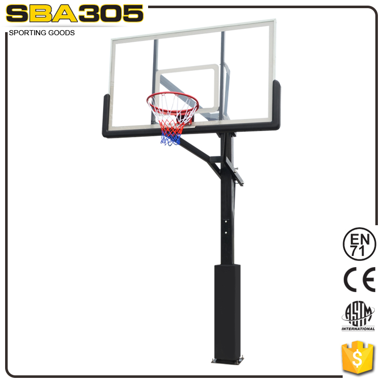outdoor/indoor Basketball Stand with fiberglass basketball backboard for sale