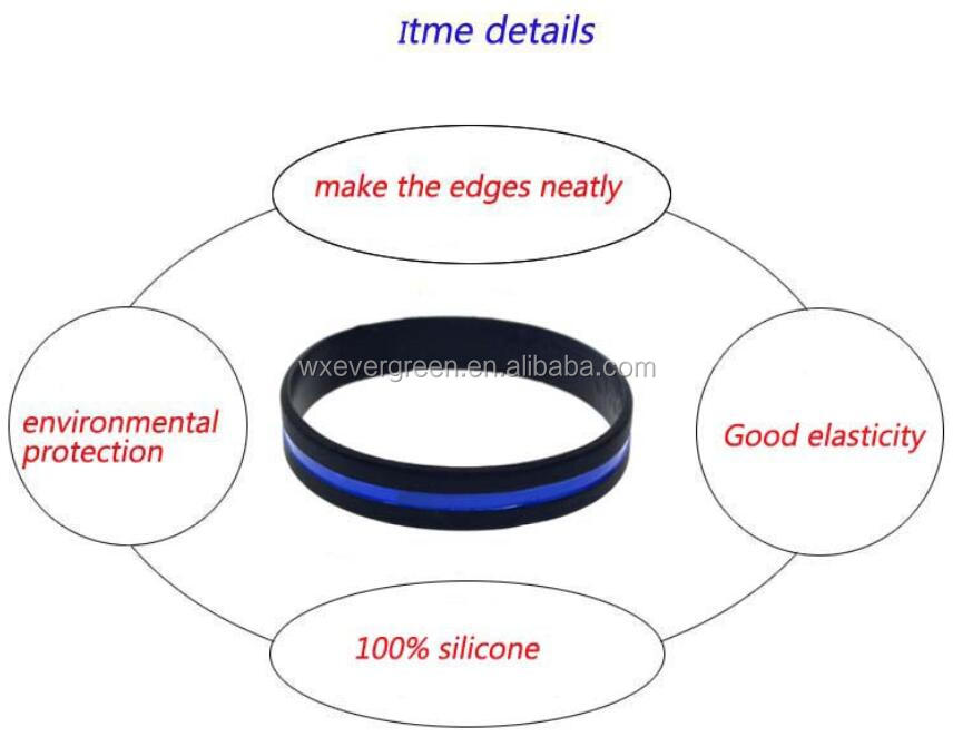 Custom silicone slap bracelet silicone bangle metal plalte bracelet