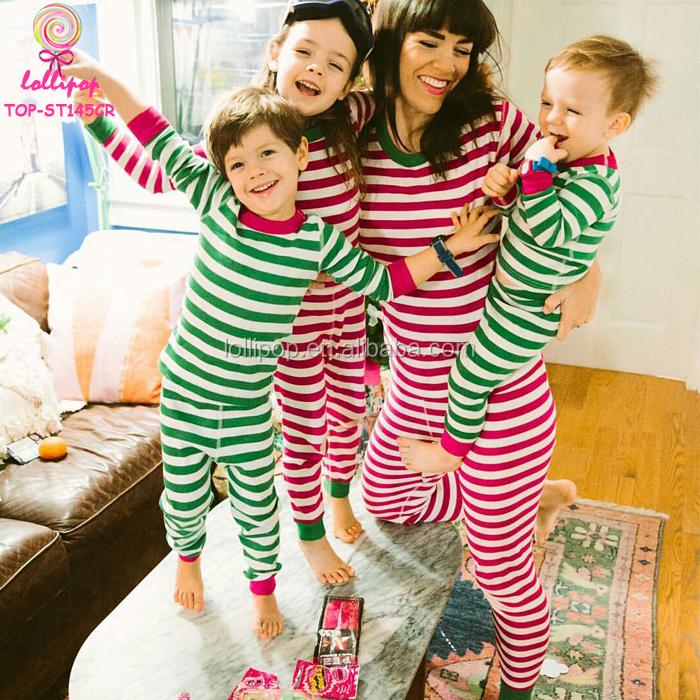 0da70b5ce2 Personalized Xmas Red Striped Kids Pajamas Wholesale Blank Family Christmas  Pyjamas Matching Adult Christmas Pajamas