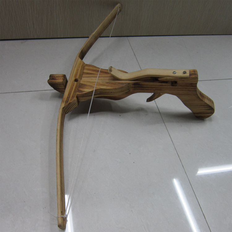 Safety Children's Toy Wooden Crossbow For Backyard Shooting Game