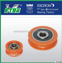 2017 China plastic skate roller wheel bearing with good quality