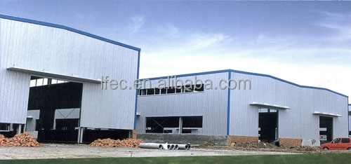 top quality fast installing large span light steel structure workshop factory