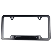 USA size aluminum custom logo license plate frame
