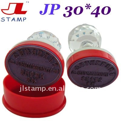 personal office rubber stamp crystal handle&self inking stamp