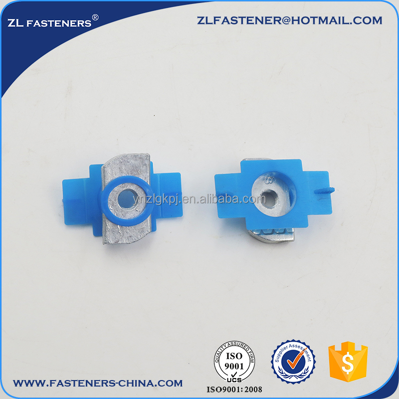 Hot dip galvanized Channel nut with plastic wing