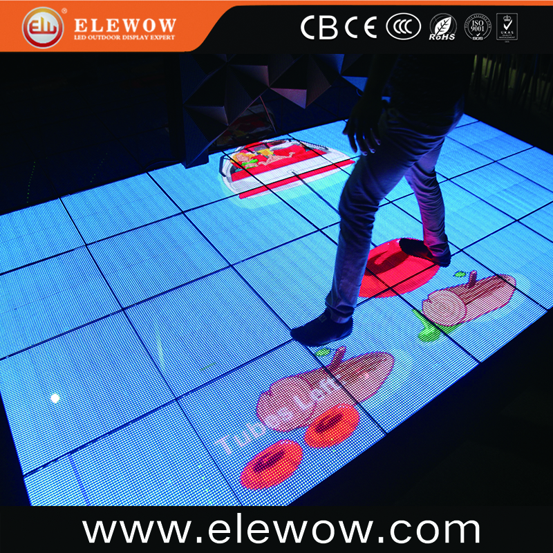 Indoor full color interactive matrix show high definition leds dance floor