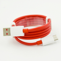 Red color type c usb cable fast charging USB C 3.1 for oneplus 5T 6T