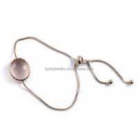 Manufacture Wholesale Metal Top Quality Custom Indian Gold Tone Bangles Grey Round Glass Bracelet