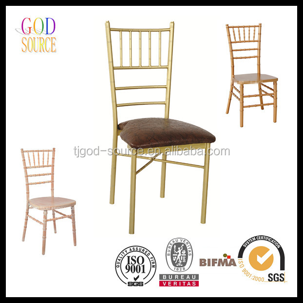 ballroom gold metal silla tiffany chiavari chair