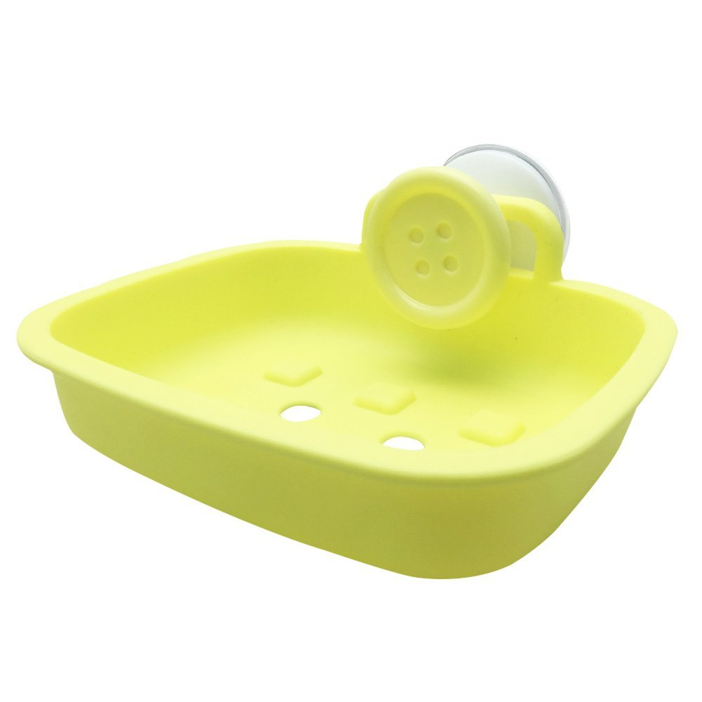 JOJO STYLE Multiple Plastic Soap Case Holder Container Box - With Gifts – Bathroom Soap Case – Macaron Yellow