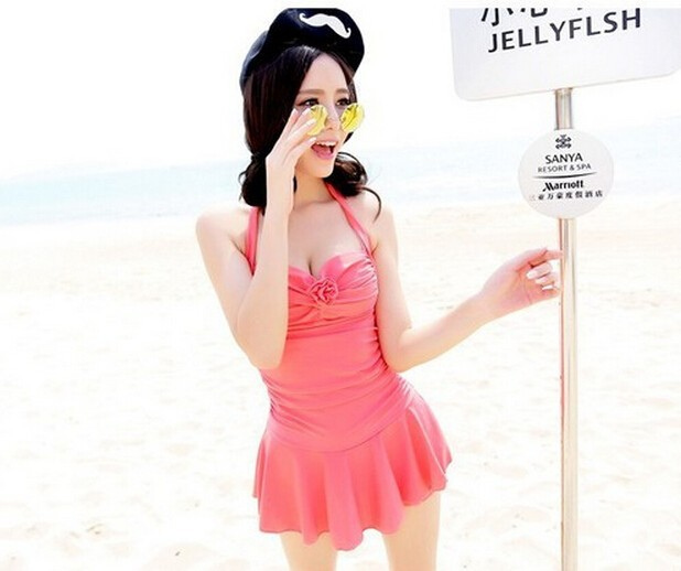 2018 Wholesale 2015 Womens One Piece Swimsuits With Skirts