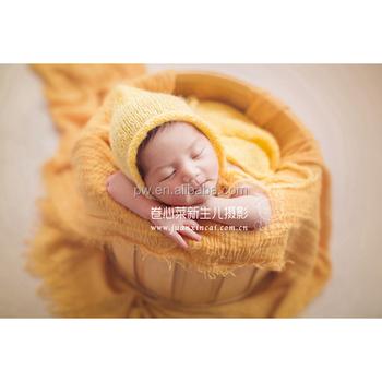 Newborn Bubble Wrap With Mohair Bonnet Set Newborn Photography Props