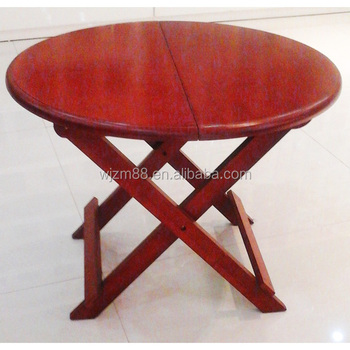 Superior Modern Design Movable Bamboo Coffee Table, Folding Round Tea Table Wholesale