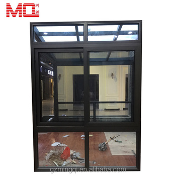 Aluminium horizontal casement window with mosquito net