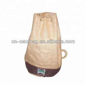 Promotional cheap high quality jute drawstring backpack