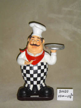 Chinese Restaurant Decoration Supply,Polyresin Chef Figurine For ...