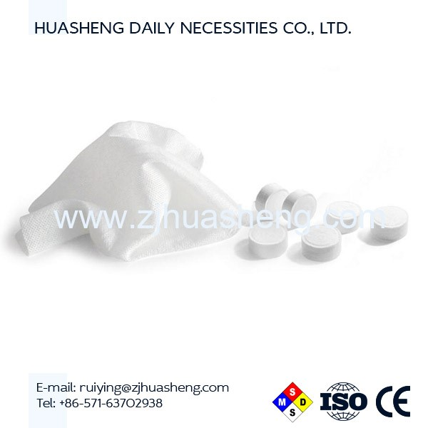 100% Rayon Nonwoven Tablet custom compressed towel