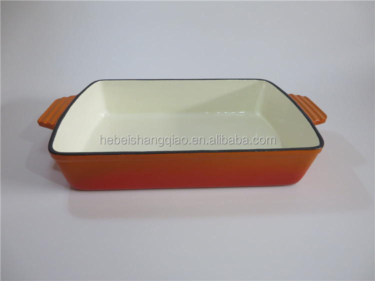 Enamel Coated Cast Iron Roasting Pan