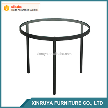 wholesale home furniture tempered glass coffee table round center