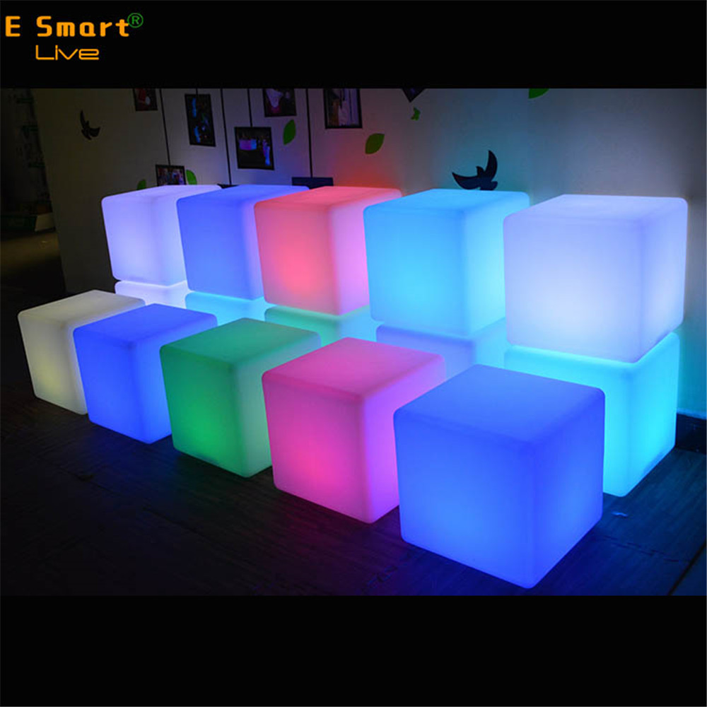 Modern Life Led Plastic Light Cubes Waterproof Ice Cube Lighting Lighted Acrylic Chairs