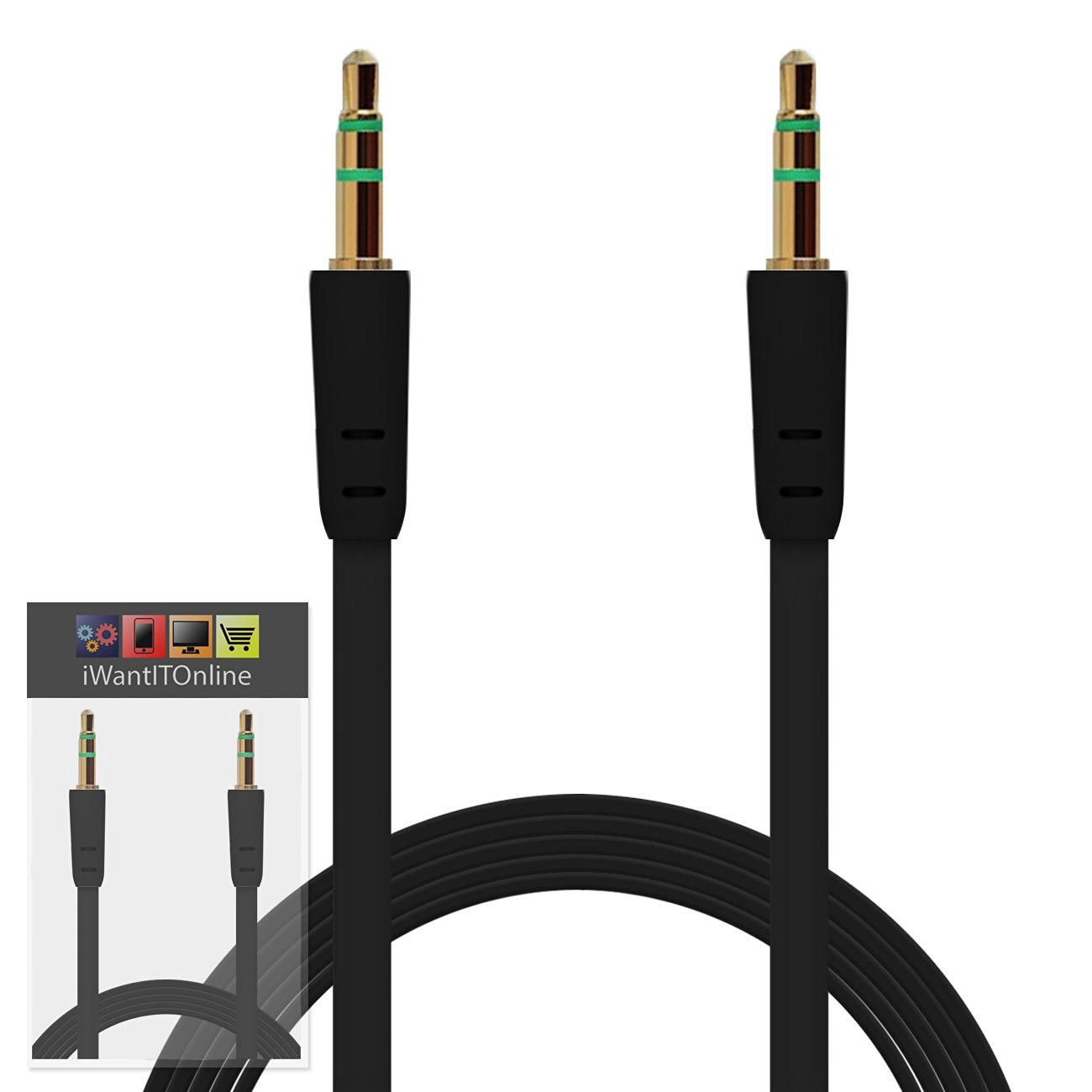 Cheap How To Wire Phone Jack Find Deals On Wiring Get Quotations Iwio Padgene Vogue 6 Smart Black Flat 35mm Gold Plated