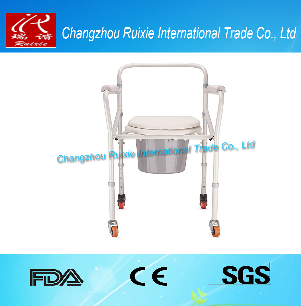 aluminium commode chair with wheels