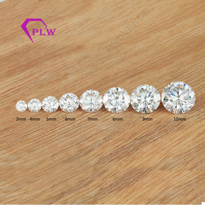 3mm to 10mm colorless white moissanite diamond price wholesale