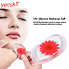 yashi Hot Selling factory Washable Liquid Cosmetic Gel Powder Puff Silicone Makeup Sponge