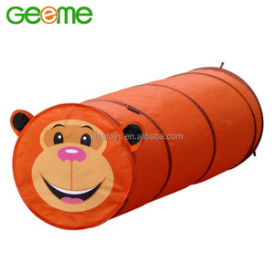 JT018 Collapsible Kids Polyester Fabric Monkey Shaped Play Tunnel