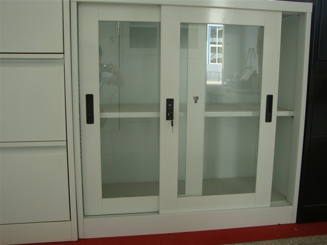 Small Glass Sliding Door Low Cabinet Shoe Cabinet Glass
