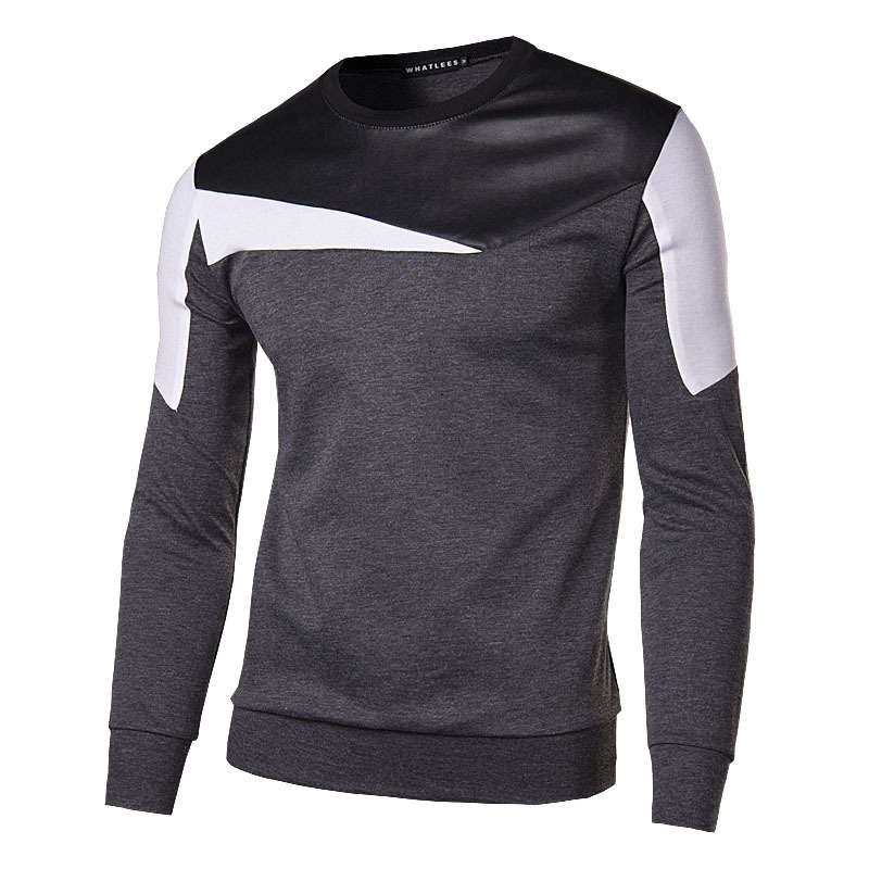 Thadensama New Fashion Men Casual Shirts Long Sleeve Patchwork Men Shirts White and Black Splice Male Shirt PL Size