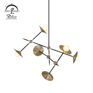 Hot sale colorful contemporary iron glass gold G9 pendant lamp